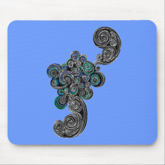 Doodle Swirls Mouse Pad
