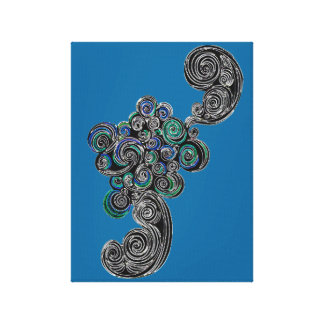 Doodle Swirls Stretched Canvas Print