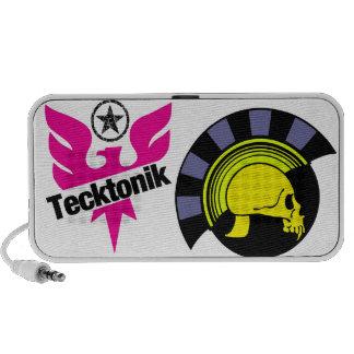 Doodle tecktonik skull laptop speakers