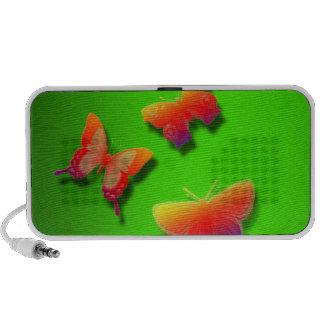 Doodle with Butterflies in Green Speakers