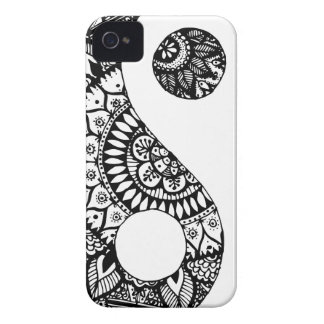 Doodle yin yang hand drawn Case-Mate iPhone 4 case