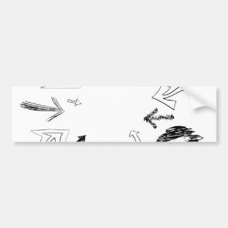 Doodled Arrows Illustration Car Bumper Sticker