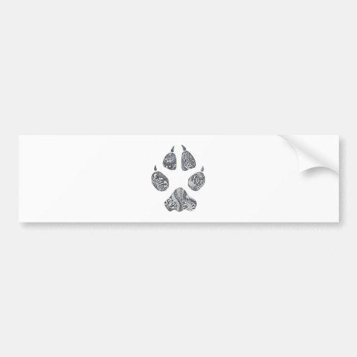 doodled coyote print bumper sticker