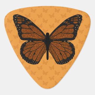 Doodled Monarch Guitar Pick