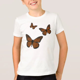 Doodled Monarch Kid's and Baby Light Shirt