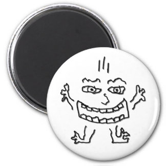 DoodleNut wild character 0002 6 Cm Round Magnet