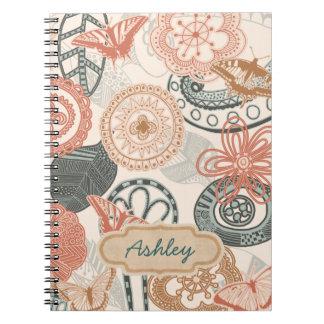 doodles and butterflies notebooks