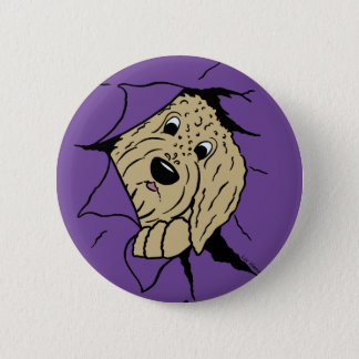 Doodles are just like that! 6 cm round badge