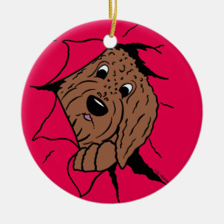 Doodles are just like that! ceramic ornament