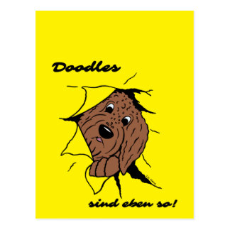 Doodles are just like that! postcard