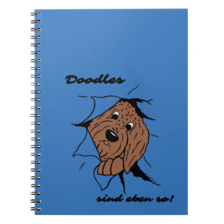 Doodles are just like that! spiral notebook