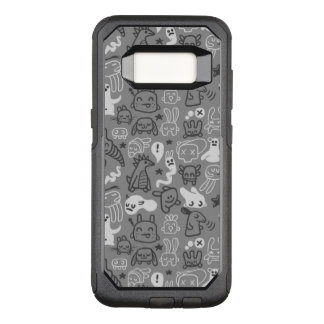 doodles pattern illustration OtterBox commuter samsung galaxy s8 case