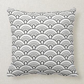 Doodles pattern Japan Cushion