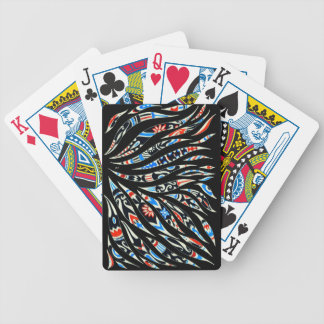 Doodles Scribble Black Pattern Bicycle Playing Cards