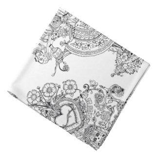 Doodles Skulls Tree Bandana