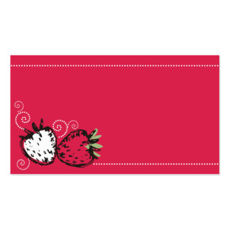 doodles strawberries fruit baking catering busines pack of standard business cards