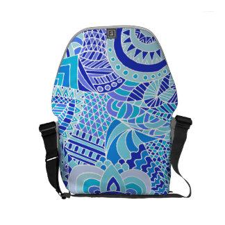 doodling art courier bag