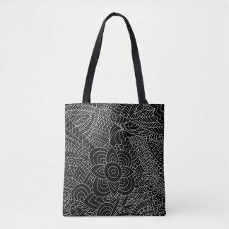 doodling art tote bag