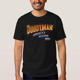 DoodyMan America's Pooper Hero Tshirts