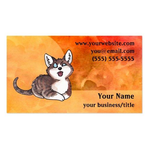 Doofy Cat Business Card - Fiery Orange