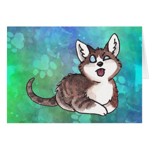 Doofy Cat Greeting Card