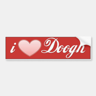 Doogh Golden Letter Yogurt Drink Bumper Sticker