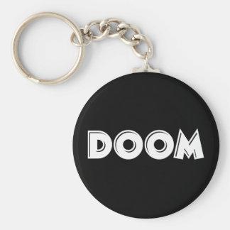 Doom Basic Round Button Key Ring