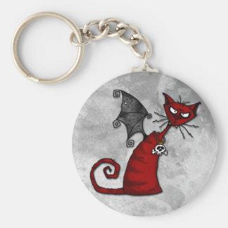 doom kitty basic round button key ring