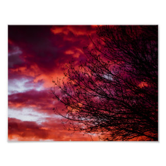 Doomsday Abstract Sunset Art Poster