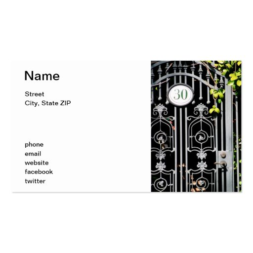 Door 30 business card templates
