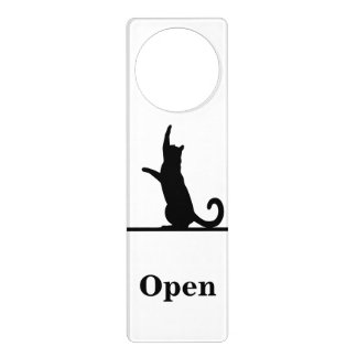 Door cat door hanger