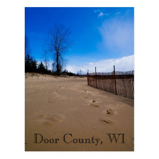 Door County Beach Postcard