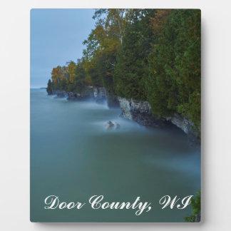 Door County Cave Point Cliffs Plaque