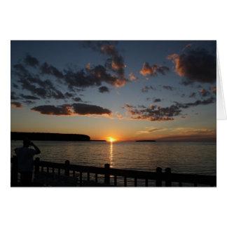door county sun set greeting card