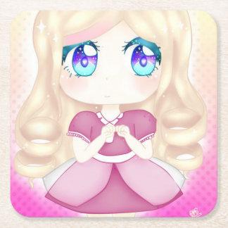 Door-Cup Princess Square Paper Coaster