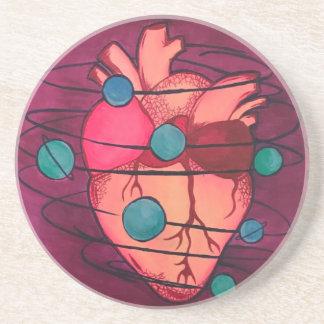 door cups space heart coaster