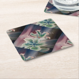 Door-cups squared square paper coaster