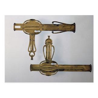 Door handles, 1898-99 postcard