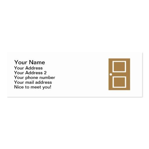 Door house business cards