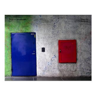 Door in Stockholm, Photo Ola Berg... Postcard