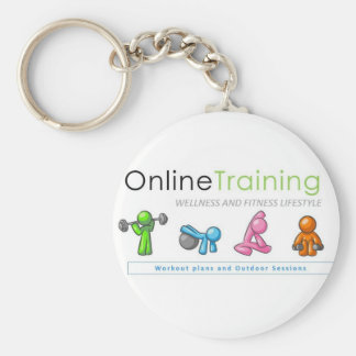 Door-keys of Online Training Fitness Lifestyle Key Ring