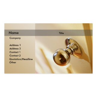 Door knob pack of standard business cards