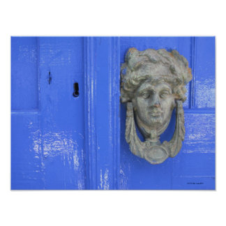 Door Knocker, Loutro, Crete, Greece Poster