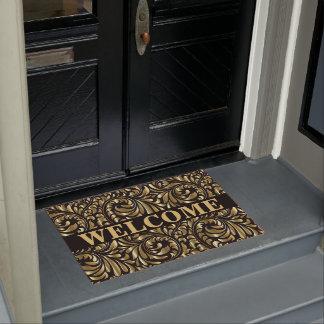 Door Mat - Drama in Black and Gold