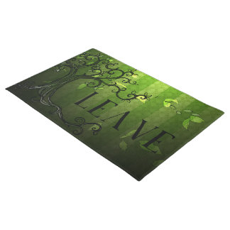 "Door Mat - 'Leave"" in Summer Green"