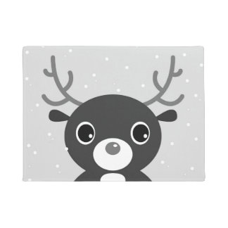 Door mat with Reindeer