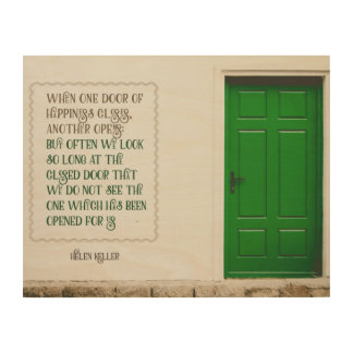 Door Of Happiness Wood Wall Art