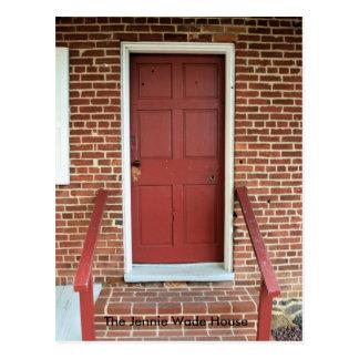 """Door of the """"Jennie Wade House"""" Postcard"""