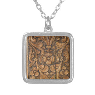 door patern silver plated necklace