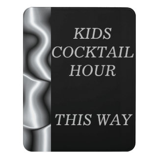 Door Signs for Silver Metal Bar Mitzvah Collection